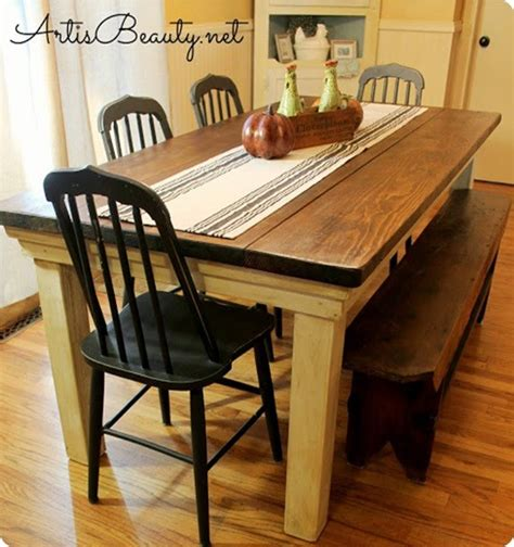 home made kitchen tables farmhouse table for 100