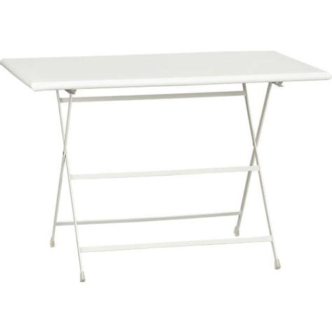 Crate And Barrel Bistro Table Pronto Large White Folding Bistro Table Crate And Barrel