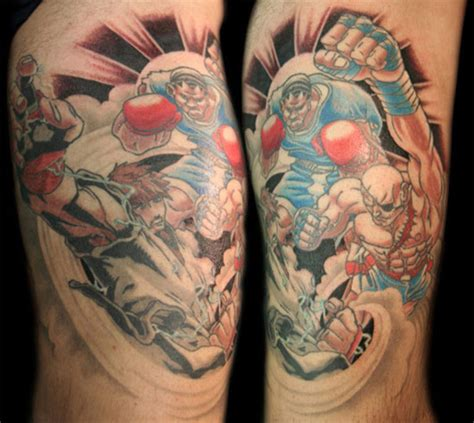 street fighter tattoo fighter themed tattoos 1