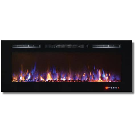 Recessed Electric Fireplace Bombay 50 Inch Recessed Touch Screen Multi Color Wall Mounted Electric Fireplace