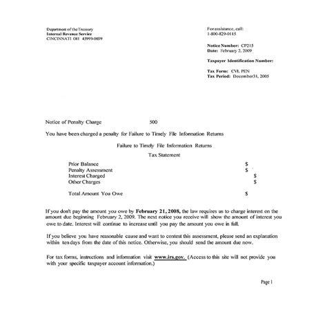 reasonable irs penalty abatement letter letter
