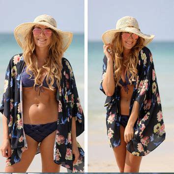 Room Decor Men Print Chiffon Beach Kimono From Love143 Cover Ups