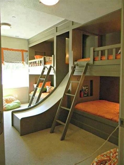 quad bunk beds quad bunk beds with a slide bunk bed design pinterest