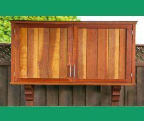 outdoor tv cabinet with doors building plan diy