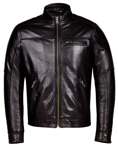black leather biker designer biker black leather jacket mens genuine leather