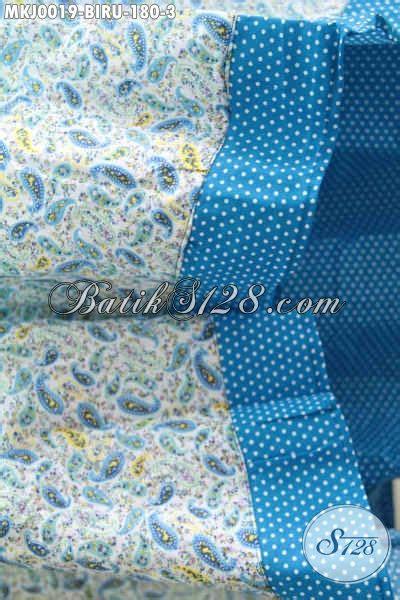 mukena batik katun jepang dengan desain motif dan warna