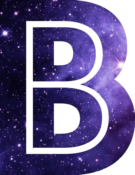 Space B quot the letter b space quot stickers by mike gallard redbubble