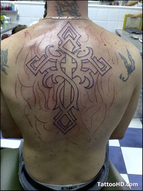tribal cross tattoos on back 31 awesome cross tattoos for back