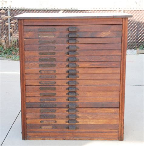 Printers Drawers For Sale by Antique Oak Printer S Typeset Cabinet With 18 Drawers