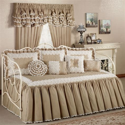 Day Bed Comforter Sets Antiquity Crochet Daybed Set Bedding