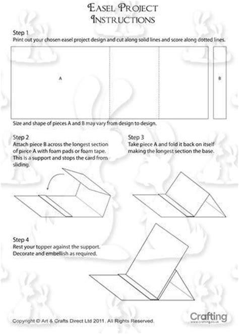easel card template easel card patterns easels