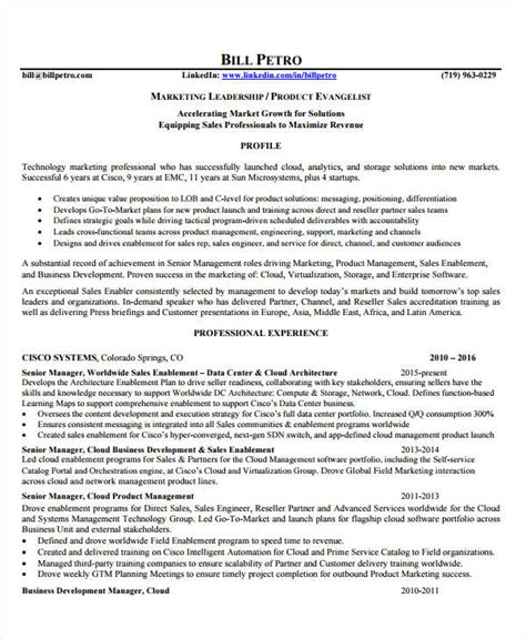 senior management resume sles product manager resume 8 free pdf documents