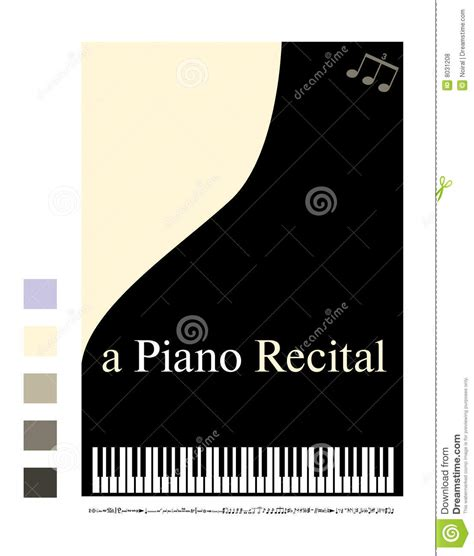 Poster For A Piano Recital Royalty Free Stock Photos Piano Recital Poster Template