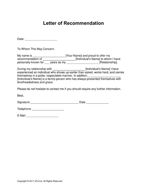 letter of recommendation lovely how to write a personal letter of