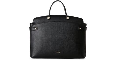 Tas Furla Agata Medium Black lyst furla onyx agata large tote in black