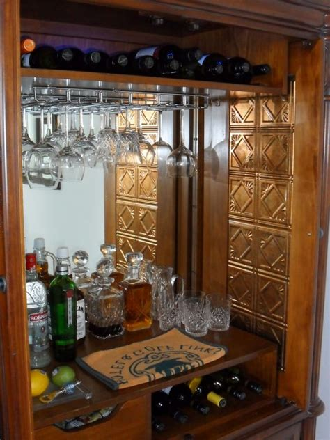 armoire liquor cabinet converted armoire to bar google search project