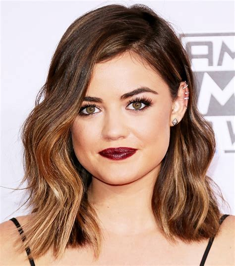 top 10 best celebrity lob the 10 best celebrity haircuts of 2014 bobs textured