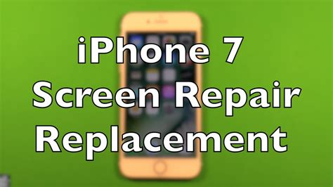Iphone 7 Screen Replacement Iphone 7 Screen Replacement Repair How To Change