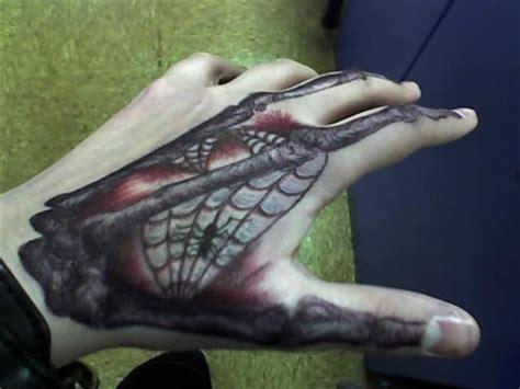 spider tattoo on hand gang spider web tattoo hand