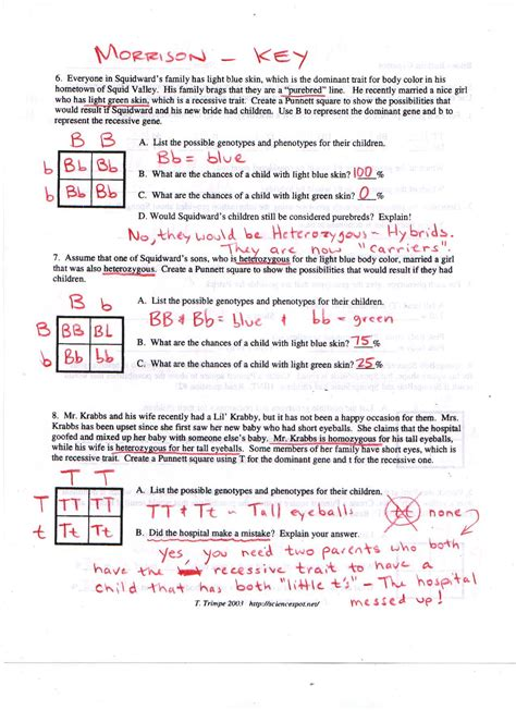 Answer And The Worksheets