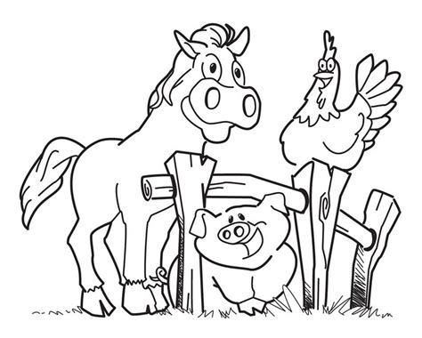 free printable farm coloring pages coloring home