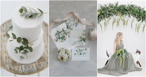 understated elegance get olive green and ivory wedding theme ideas