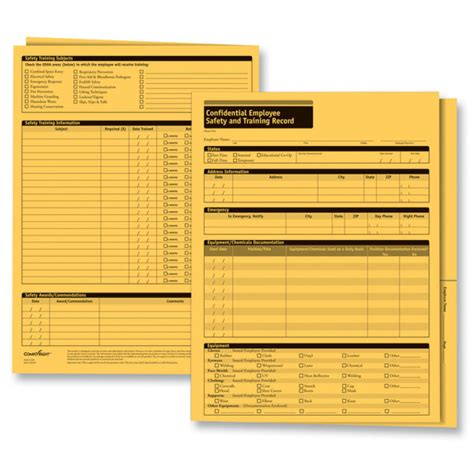 Osha Records Employee Safety Records Folders Employee Records