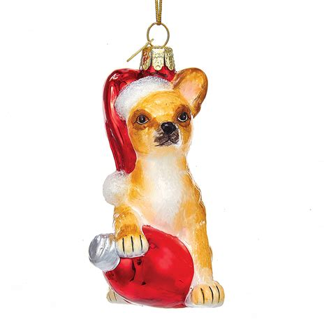 holiday chihuahua christmas ornament gump s