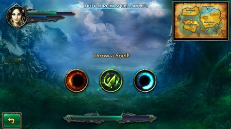 layout video game fantasy mobile game ui template