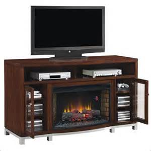 Tresanti wesleyan 66 inch tv console fireplace in meridian cherry