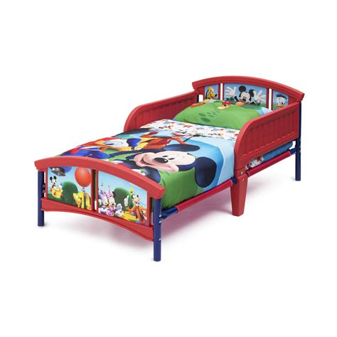 Mickey Mouse Bunk Beds Delta Children Mickey Mouse Convertible Toddler Bed Reviews Wayfair