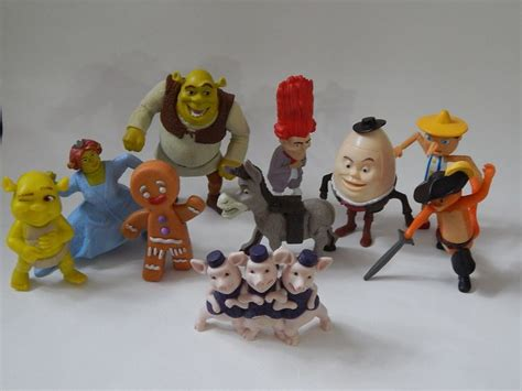 Happy Meal Shrek mcdonalds happy meals fast food toys selection of 10 shrek