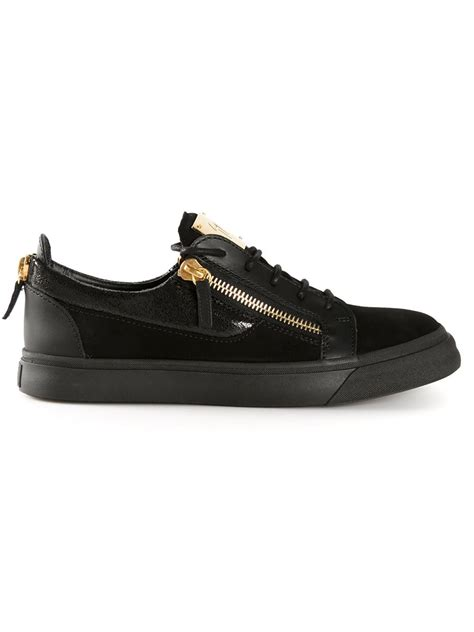 giuseppe sneakers for giuseppe zanotti frankie leather low top sneakers in black