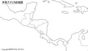 Outline Map Of Mexico And Central America by 中央アメリカ地図 旅行のとも Zentech