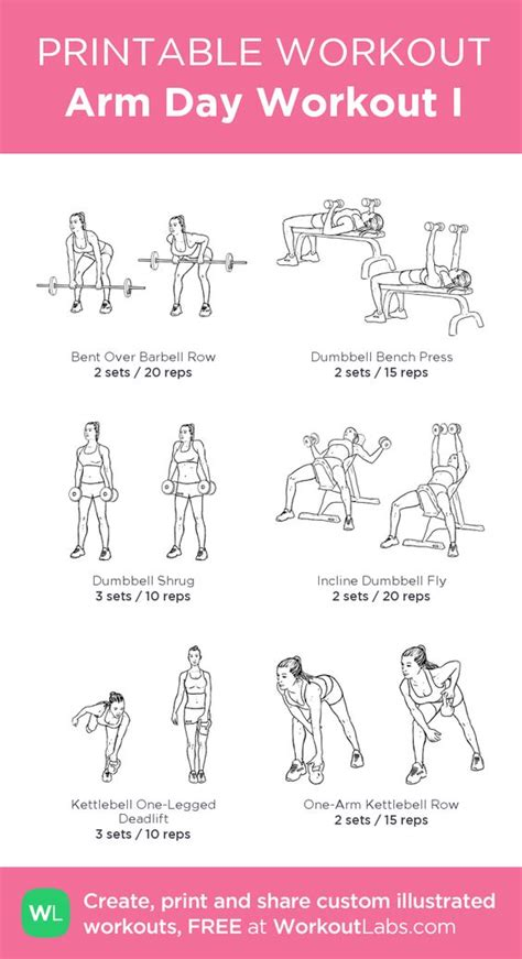 arm day workout i my custom printable workout by