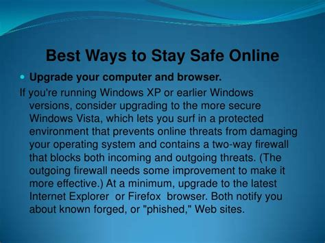 best ways to stay safe