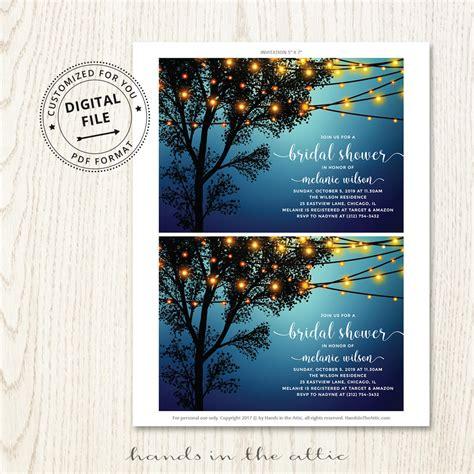 backyard bridal shower invitation printable stationery