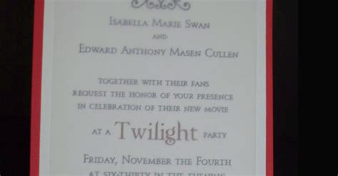 twilight saga wedding invitation make do celebrate the twilight saga breaking part 1 release with a viewing