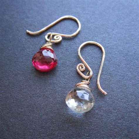 Handmade Drop Earrings - handmade wire wrapped gemstone drop dangle earrings you