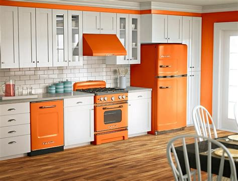 orange and white kitchen ideas retro k 252 che die neuen alten k 252 cheneinrichtung trends