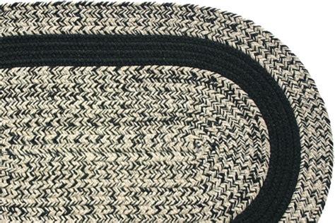 Black Braided Rugs by Oatmeal Black Black Band Braided Rug