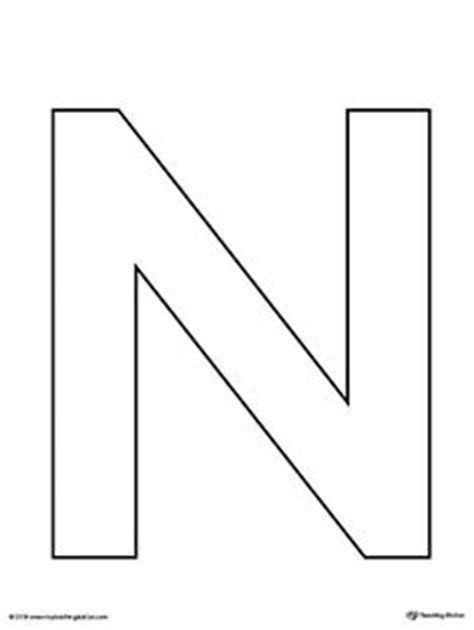 letter n template pin by muse printables on printable patterns at
