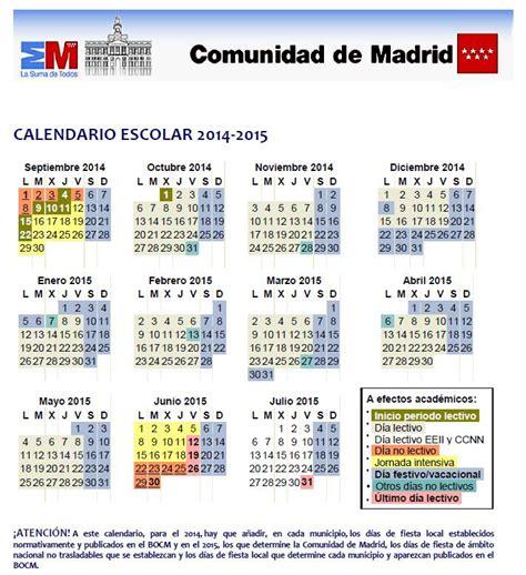 calendario escolar 2013 2014 madridorg calendario escolar comunidad de madrid el blog de teide