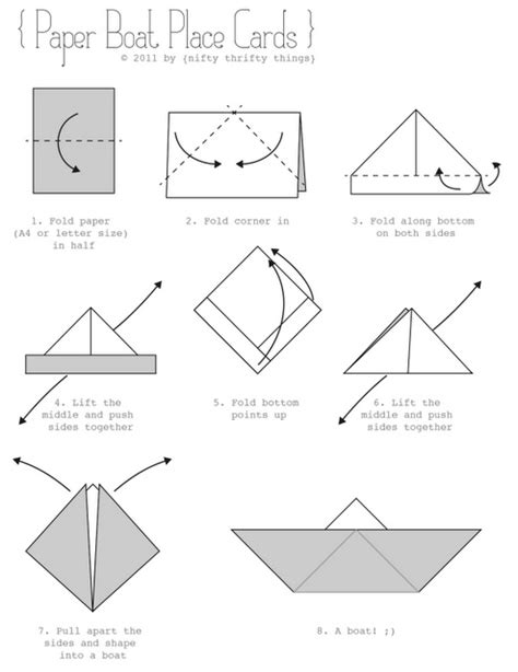Folding Paper Boat - outside the box sailboat for creative writing