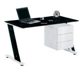 Small Black Glass Office Desk Black Glass Desk For Your Home Office