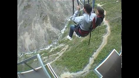 biggest swing in the world new zealand world s biggest swing nevis swing new zealand youtube