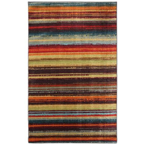 Striped Area Rugs Mohawk Home Boho Stripe Multi 6 Ft X 9 Ft Area Rug 512545 The Home Depot