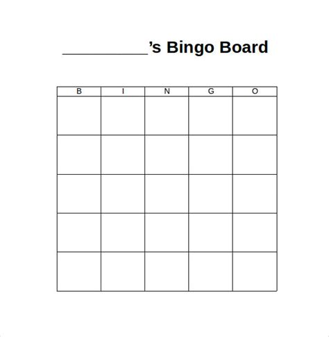 bingo card template psd pictures on blank templates wedding ideas