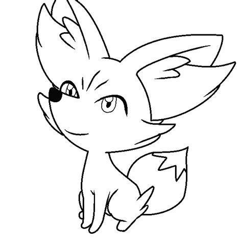 pokemon coloring pages fennekin fennekin base ms paint by cherri pawz on deviantart