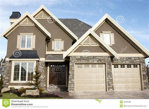 royalty house new home house stucco stock photo image of elevation 12599488